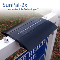 SunPal-2X Solar Real Estate Sign Light